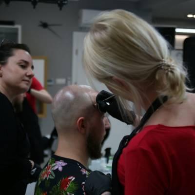 linia frontalna mikropigmentacja głowy